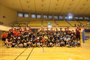 松本市公開練習&バレーボール教室の開催