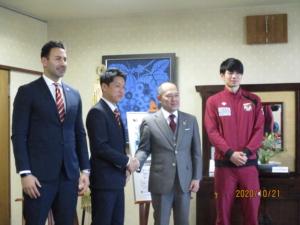 松本市長を表敬訪問いたしました