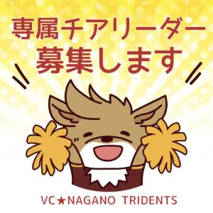 VC長野トライデンツ「公式チアリーダー」の募集について(再)