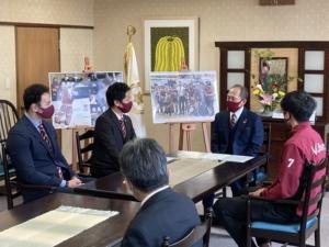 松本市長にシーズン報告をいたしました